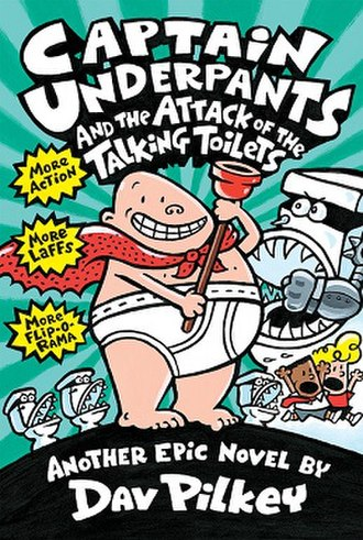 Captain Underpants and the Attack of the Talking Toilets - Third edition cover