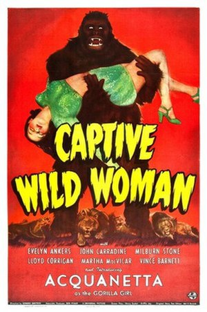Captive Wild Woman - Theatrical release poster