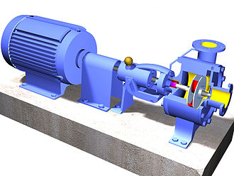 Centrifugal compressor - A 3D-solids model of a type of centrifugal pump