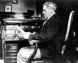 Chase Osborn - Governor Osborn at his desk in his office.