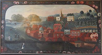 Chesham - Painting of Chesham town, circa 1750