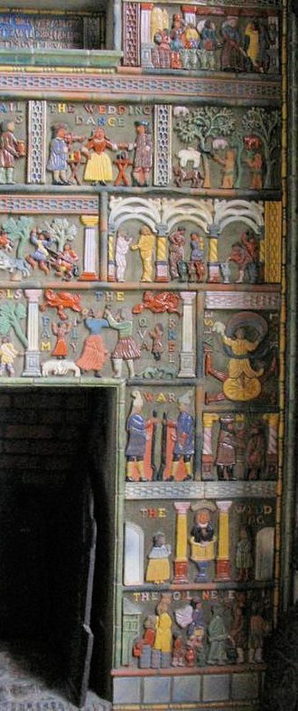 Moravian Pottery and Tile Works - Sample work from the tile plant in Mercer Museum, the cement museum by Henry Mercer.