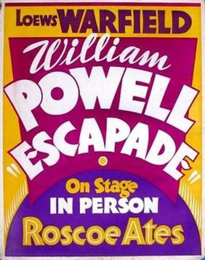 Escapade (1935 film) - Image: Escapade Film Poster