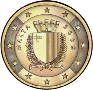 Maltese euro coins - Image: Eurocoins.malta.choi ce 1