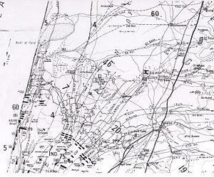Capture of Afulah and Beisan - Falls Map 20 detail. Breakthrough