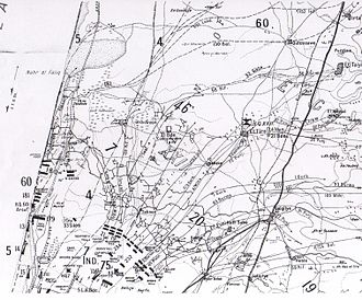 Battle of Sharon - Falls Map 20 detail