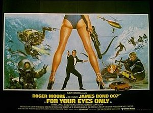 For Your Eyes Only (film) - British cinema poster for For Your Eyes Only, designed by Bill Gold