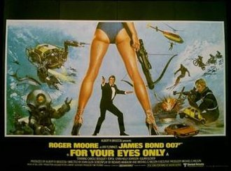 For Your Eyes Only (film) - The controversial British cinema poster for For Your Eyes Only, designed by Bill Gold