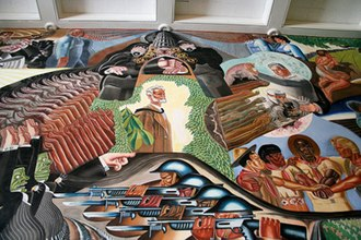 """Gilbert Brown Wilson - A portion of the """"Liberation"""" mural at Woodrow Wilson Middle School"""