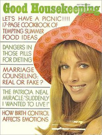 Francesco Scavullo - Good Housekeeping cover from July 1967. Cover photo of Alana Collins (later Alana Stewart) by Scavullo.