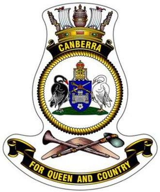 HMAS Canberra (L02) - Ship's badge