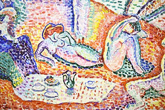 Luxe, Calme et Volupté - Image: Henri Matisse, 1904, Luxe, Calme et Volupté, oil on canvas, 98.5 × 118.5 cm, Musée National d'Art Moderne, Centre Pompidou (detail lower left)