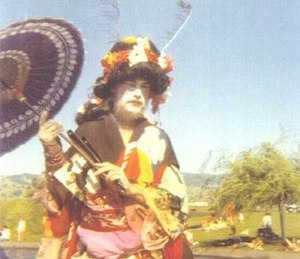 Hibiscus (entertainer) - Hibiscus as Madame Butterfly at Sonoma State College in 1970