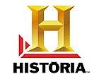 Большая желтая буква H и слово Historia.