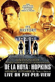 Bernard Hopkins vs. Oscar De La Hoya Boxing competition