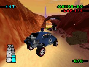 Hot Wheels Turbo Racing - Gameplay on the Nintendo 64.