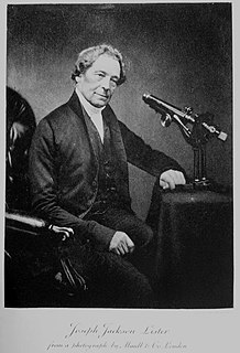 Joseph Jackson Lister British physicist