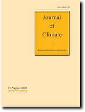 Journal of Climate - Image: Journal of Climate cover