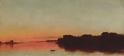 Twilight on the Sound, Darien, Connecticut, 1872, John Frederick Kensett (1816–1872) Metropolitan Museum of Art, New York