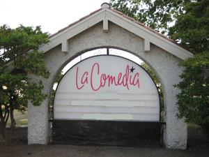 La Comedia Dinner Theatre bill board