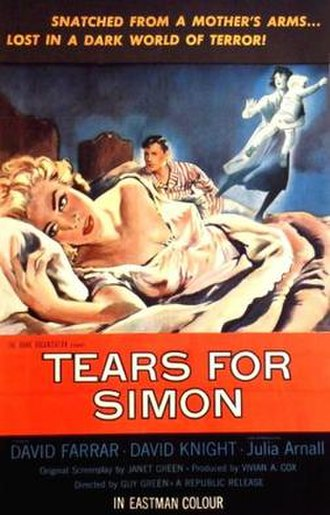 Lost (1956 film) - A poster bearing the film's alternative title: Tears for Simon