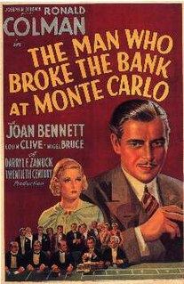 <i>The Man Who Broke the Bank at Monte Carlo</i> (film) 1935 film by Stephen Roberts