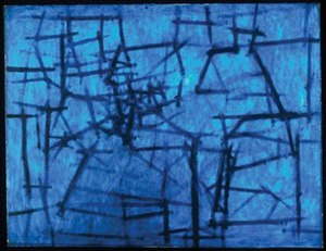Kazuo Nakamura - Inner Structure, 1956, oil on masonite