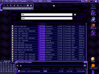 Appearance Manager - Kaleidoscope theme utility using Albie Wong's ElectricMonk scheme, running on Mac OS 9 in 2001