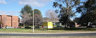 Narrabundah College - Narrabundah College showing front entrance and driveway, Winter 2008