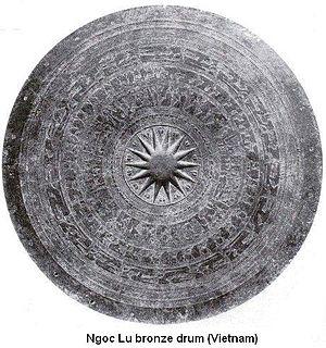 Ngoc Lu drum - Ngoc Lu bronze drum's surface, Vietnam