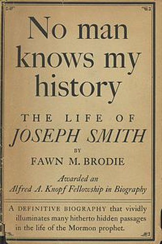 No Man Knows My History - Cover of the first edition