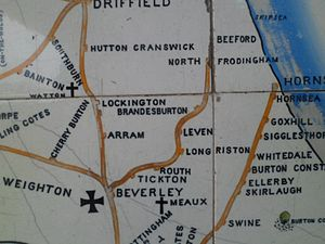 North Holderness Light Railway - Tile map showing the route