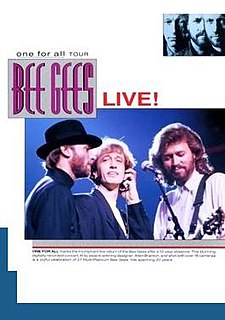 <i>One for All Tour</i> 1991 video by Bee Gees