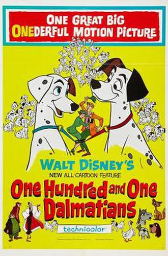 One Hundred and One Dalmatians - Original theatrical release poster