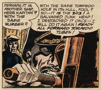 "Torpedo...Los! - The source of Torpedo...Los! is ""Battle of the Ghost Ships?"" in DC Comics' Our Fighting Forces (October 1962)."