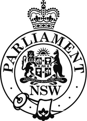 Parliament of New South Wales - Image: Parliament of New South Wales emblem