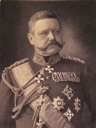 28th Division (German Empire) - Paul von Hindenburg as commander of the 28th Division, 1900-1903.