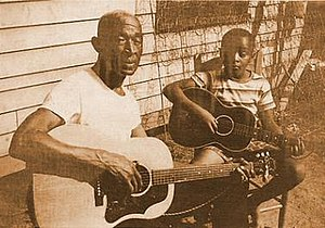 "Pink Anderson - Anderson and his son ""Little Pink"" Anderson in the 1960s"