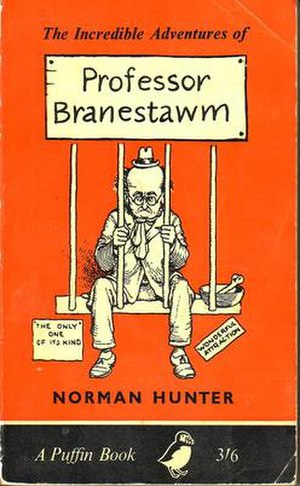 Professor Branestawm - The Incredible Adventures of Professor Branestawm, the first book in the series, shown here in its Puffin paperback edition with cover drawing by W. Heath Robinson