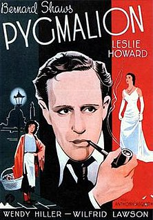 <i>Pygmalion</i> (1938 film) 1938 British film based on the George Bernard Shaw play