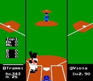 R.B.I. Baseball - Screenshot from NES version