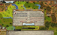 A preview image of Rise of Prussia showing the map, interfaces, and battle report.