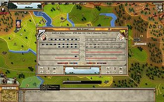 Rise of Prussia - A preview image of Rise of Prussia showing the map, interfaces, and battle report.