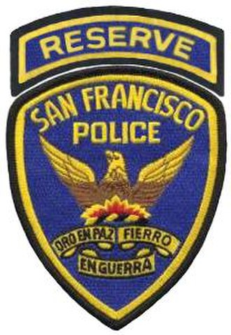 San Francisco Police Department - SFPD Reserve Officers patch