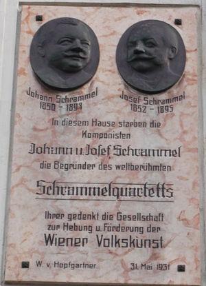 Johann Schrammel - Plaque on the House