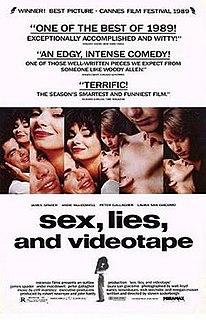 <i>Sex, Lies, and Videotape</i> 1989 film directed by Steven Soderbergh