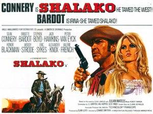 Shalako (film) - original film poster by Tom Chantrell