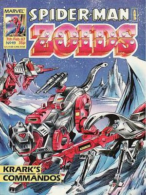 Spider-Man and Zoids - Image: Spider Man and Zoids (no. 49 comic book cover)