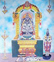 A representation of Sri Narasimha in Kadiri. Andhra Pradesh.