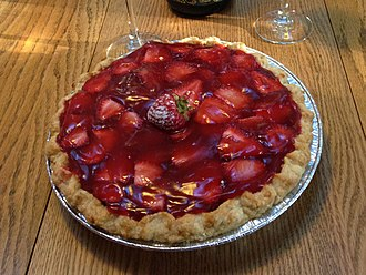Strawberry pie - Strawberry pie with a sweet red gelatin mingling with tart berries.